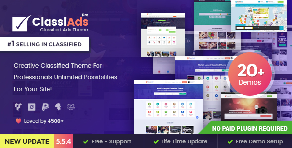 Classiads – Classified ads WordPress Theme